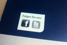 Fan werden! Irgendwo! / Facebook-Logos und Fanpage-Hinweise als Selbstzweck. Wie Unternehmen die Adressen der Fanpages verschweigen.