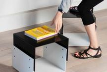 NIMO / Multifunctional piece that can be used as a coffee table or stool. by Estudio Carme Pinós