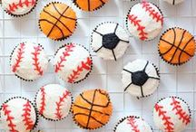 Sports Party Ideas / Sport party combining soccer, basketball, football and baseball.  Ideas for favors, food and activities.