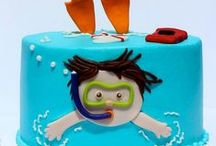 Pool Party Ideas / Pool party decor, food and favors. Inspiration for pool party cakes and activities.