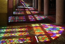 Stained Glass and Mosaics / Take a window and a rainbow, put them together and what do you get?...stained glass..beautiful indeed! / by Vicky Bell