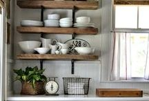 Style: Farmhouse Style / Do you dream of living in a turn of the century Farmhouse with a huge front porch and a farmhouse sink?  Me, too. I don't have one, but until I do... I will covet farmhouse style!