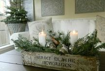 Christmas: Farmhouse / Nothing quite beats the vintage style of a Farmhouse Christmas.  / by The Everyday Home