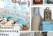 Home: Summer Decor / A collection of light and bright and beautiful Summer decorating ideas.