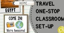 Travel Around the World Classroom Decor / Ready for a classroom adventure this school year? Pack your suitcases and grab this travel classroom decor theme! Travel around the globe from Positively Learning