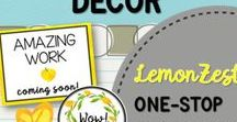 Lemon Zest Watercolor Classroom Decor / Fresh lemon yellow and green watercolor classroom decor! All things lemon zest in this bright theme. From Positively Learning