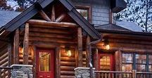 Log Homes / I have always been fascinated with log homes. There's just something about them that is so appealing to me. I love the rustic feel and all of the earthiness of the décor. To me it feels like nature just comes right on inside!