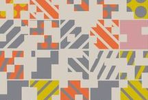 DESIGN : Geometrics / I studied as a surface pattern designer and still practice today. A good geometric print always grabs my attention - bold colours and strong shapes make for the best designs.