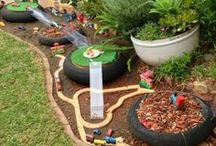 DIY Backyard Playspace / DIY Ideas for natural playscapes, backyard, and outside toys.