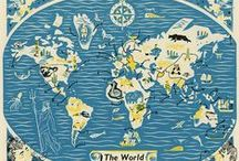 TRAVEL ILLUSTRATION : Maps / As well as being a Travel Illustrator I am also a Map Maker, and this board includes some of my favourite illustrated maps from other designers. It works well with my 'DESIGN : Travel Journal' board and creates a whole new view of the world.