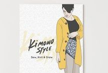 """Kymono Style  / Kimono Style is 1 of our new editorial line. In this book you will find ten projects inspired by the shape of the kimono, you will know a little history, and language of their prints. """"Cose, weaves and colors"""" simple garments, adapted to any size that you used to create your own wardrobe . Includes scale patterns on paper."""