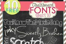 Fonts & Backgrounds