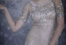 Pretty, girly, sparkly things / Pearls, lace, sequins, satin and silk, glitter, jewels, shimmery, sparkly silver and gold.