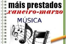 Máis prestados MÚSICA Inverno 2013 / Os máis prestados de MÚSICA na Biblioteca Ánxel Casal. XANEIRO-MARZO 2013