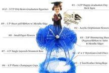 LACrafts - Graduation Centerpieces & Favors / Decorate your graduation celebration with these great LACrafts.com centerpieces and favors! ¡Decora tu fiesta de graduación con estos centros de mesa y favores de LACrafts.com!