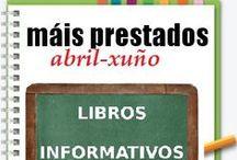 Máis Prestados INFORMATIVOS Primavera 2013 / Os máis prestados de LIBROS INFORMATIVOS na Biblioteca Ánxel Casal. ABRIL-XUÑO 2013