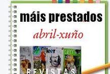 Máis Prestados REVISTAS Primavera 2013 / Os máis prestados de REVISTAS na Biblioteca Ánxel Casal. ABRIL-XUÑO 2013