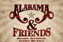 Alabama & Friends / This is what happens when Jason Aldean, Luke Bryan, Kenny Chesney, Eli Young Band, Florida Georgia Line, Jamey Johnson, Toby Keith, Rascal Flatts and Trisha Yearwood all celebrate Alabama!  / by Show Dog-Universal