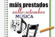 Máis prestados MÚSICA Verán 2013 / Os máis prestados de MÚSICA na Biblioteca Ánxel Casal XULLO-SETEMBRO 2013