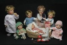 polymer clay toddler, children, and adult dolls / Attention: Some dolls are nude! So please be aware.