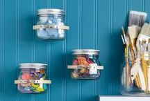 Organization and Storage  / Bernardin jars can make the perfect storage tools - they're durable, come in various sizes, and have a fun, vintage look.