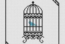 Cross Stitch: Birds & Cages & Houses / by Christel Krampitz