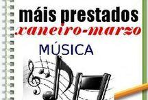Máis prestados MÚSICA INVERNO 2014 / Os máis prestados de MÚSICA na Biblioteca Ánxel Casal XANEIRO_MARZO 2014