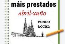 Máis prestados FONDO LOCAL. PRIMAVEIRA 2014 / Os máis prestados de FONDO LOCAL na Biblioteca Ánxel Casal. ABRIL-XUÑO 2014