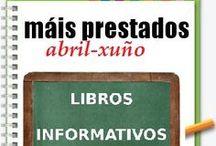 Máis prestados INFORMATIVOS PRIMAVERA 2014 / Os máis prestados de INFORMATIVOS na Biblioteca Ánxel Casal ABRIL_XUÑO 2014