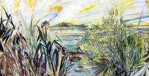 Louisiana Swamp & Marsh Landscape Paintings / A collection of Mia Kaplan's vibrant paintings of the Louisiana marshes and swamps - http://www.miakaplan.com