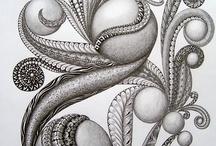Doodl'n - Scribbl'n - Zentagles / Food for a manic doodler.