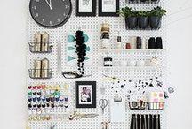 Pegboard Love / Pegboard organizing, DIY ideas.