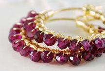 Garnet - January Birthstone Jewelry / Garnet jewelry -  January`s birthstone
