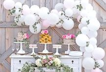 PARTY - Wedding Showers / Wedding shower and bridal shower ideas. Wedding shower decorations. DIY weddings and affordable wedding ideas.