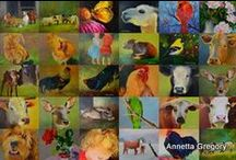 30 paintings in 30 days / Painting 30 paintings in 30 days, daily paintings. / by Annetta Gregory Art