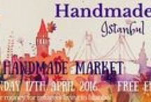 Handmade Istanbul Markets / Seasonal markets in central Istanbul, showcasing local and expat artisans who create a wide variety of handcrafts. Open  to the public, and benefiting UN refugees hosted in Turkey. / by Catherine Bayar