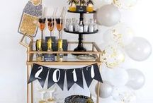 HOLIDAY - New Years Eve / New years eve party ideas. New years eve ideas. New years eve food and clothes.