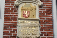 Gable stones /Gevelstenen / Gable stones (Dutch= gevelstenen) are carved and often colourfully painted stone tablets, which are set into the walls of buildings, usually at about 4 metres from the ground. They serve both to identify and embellish the building. They may also tell us something about its owner.