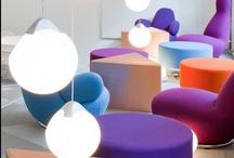 Curved furniture hubs
