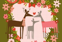 Christmas cards and illustrations