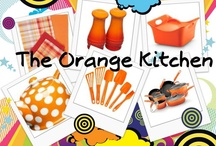 Orange Kitchen Decor / My collection of orange kitchen decor and decorating ideas.  Also some orange cookware, rugs, towels, etc... and orange appliances too! #ppgorange / by potpiegirl