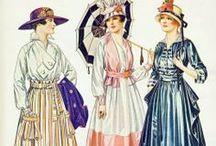 1915-1918: War Crinoline Day Wear
