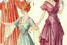 1915-1918: War Crinoline Evening Wear