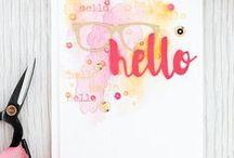 Karten :: / Mit Stempel, Papier und Kleber entstehen wundervolle Karten die man zum Geburtstag, zur Hochzeit, zur Geburt und z.B. auch zum Jubiläum sehr gut verschenken kann.