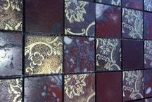 Mosaic by AKROS / Mosaic on marble decorated by AKROS
