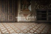 Floors decorated by AKROS / Beautiful floors on marble decorated, projected for luxury home.