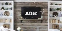 Before & After Decor / I LOVE before and After pictures of remodels, room makeovers, houses, upcycling, etc etc!