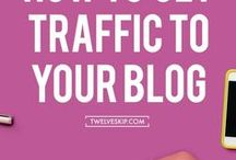 Blog Traffic Tips / Learn how to increase your blog traffic and how to get more traffic and page views to your blog.  Best tips, tricks, and ideas  to boost your website traffic.