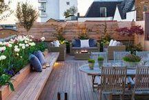 Terrasse | Outdoor terrace / Des idées d'aménagement de jardin, de terrasses, de patio qui donnent envie d'être toujours dehors.