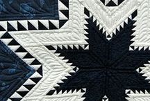 Star Quilts (and blocks) / Lone Stars, Feathered Stars, Wonky Stars... I love them all.